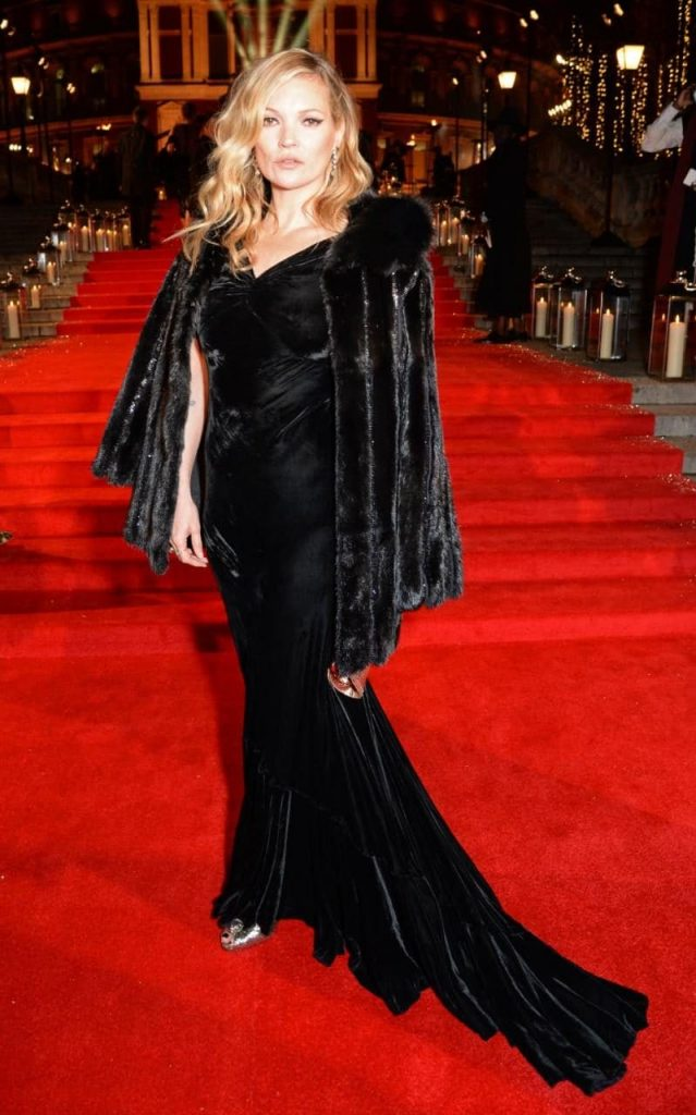 Kate Moss reigned supreme on the Fashion Awards red carpet CREDIT: REX